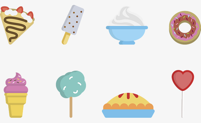 cartoon food collection, Pizza, Ice Cream, Dessert PNG and Vector - Pizza And Ice Cream PNG