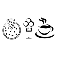 Coffee Pizza Ice Cream - Pizza And Ice Cream PNG