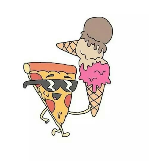 overlay, pizza, and ice cream image - Pizza And Ice Cream PNG