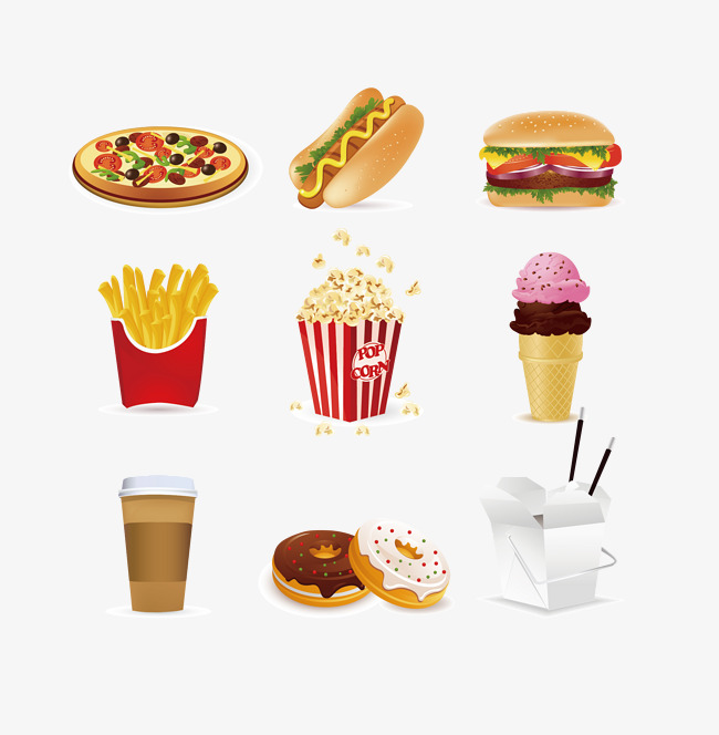 pizza, French Fries, Ice Cream PNG and Vector - Pizza And Ice Cream PNG