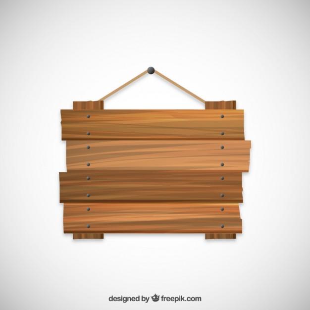Placa de madeira pendurado em uma corda Vetor grátis - Placa Fazendinha PNG