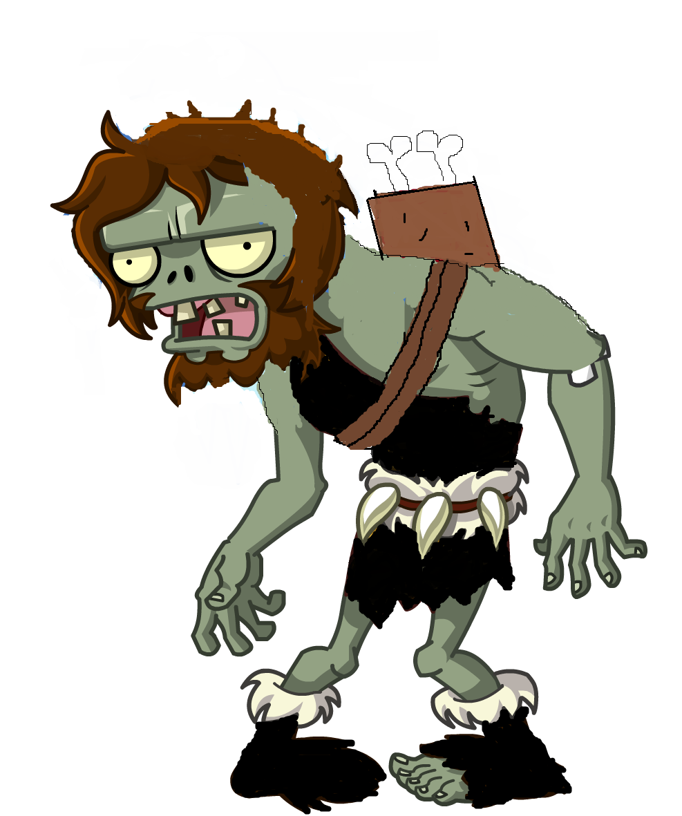 Bone Thrower Zombie HD.png - Plants V Zombies HD PNG