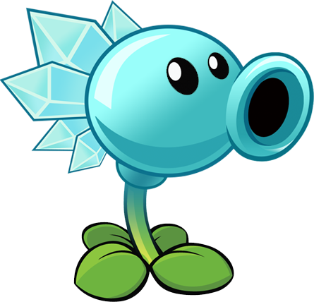File:Snow Pea (HD size).png - Plants V Zombies HD PNG
