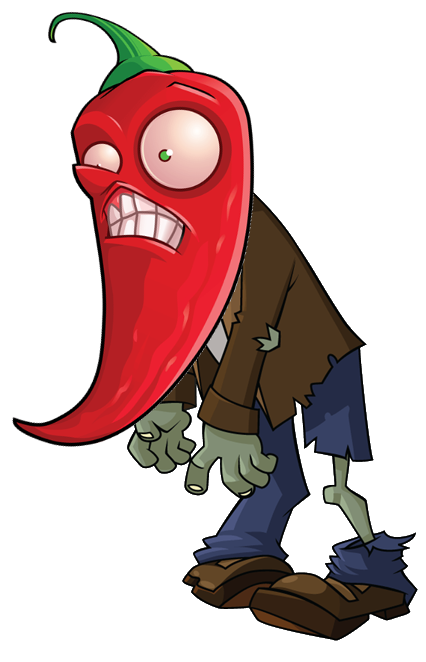 Image - HD Jalapeno Zombie.png | Plants vs. Zombies Wiki | FANDOM powered  by Wikia - Plants V Zombies HD PNG