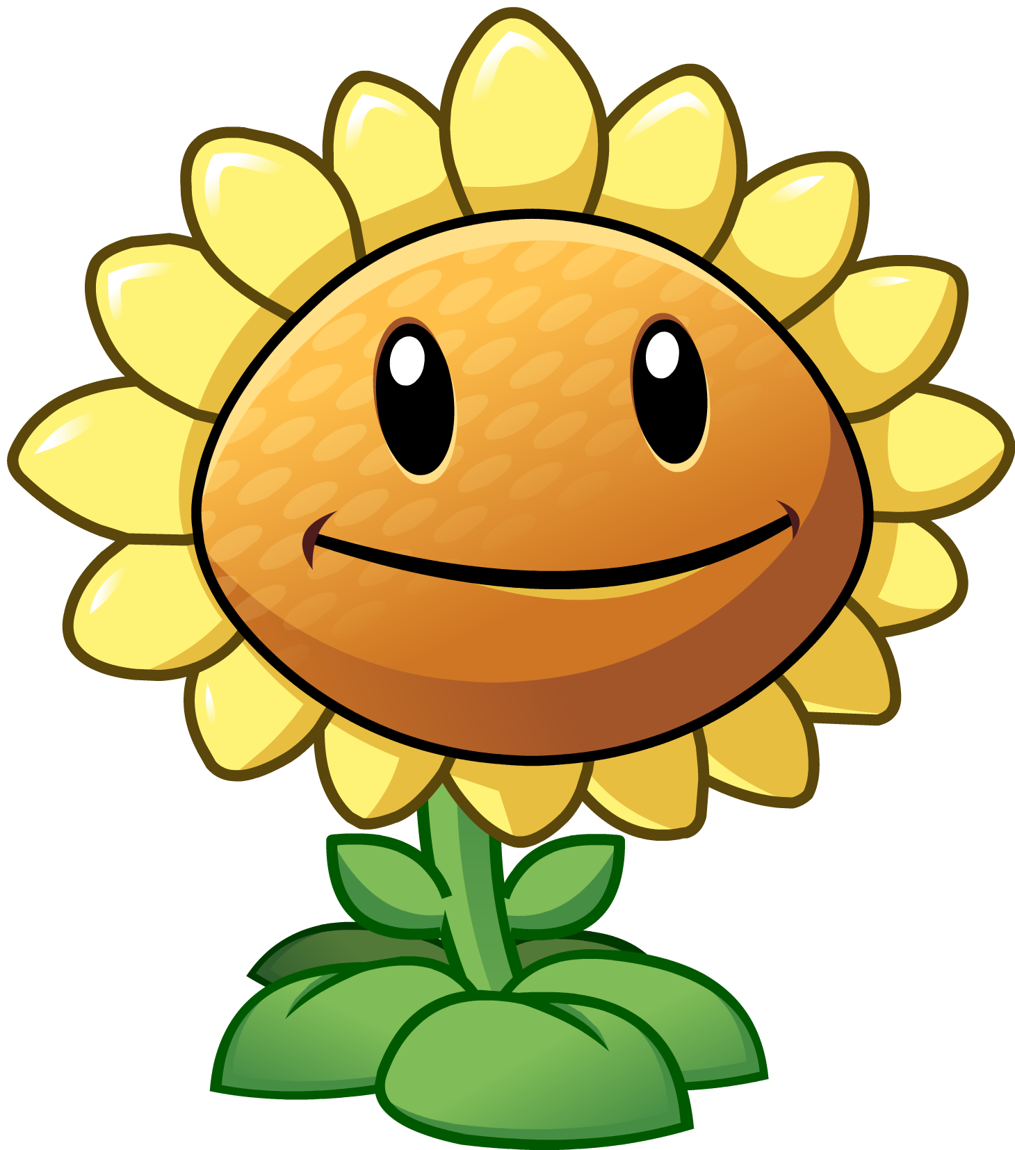 Plants vs zombies 2 sunflower by illustation16-d7gic8z.png - Plants V Zombies HD PNG