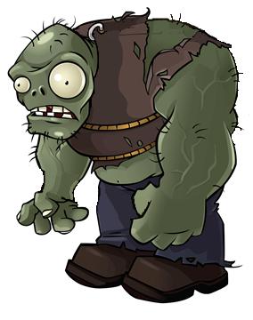 Gargantuar zom-b.png - Plants Vs Zombies PNG
