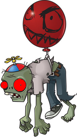 Giga Balloon Zombie.png - Plants Vs Zombies PNG