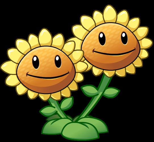 Pvz2twinsunflower.png - Plants Vs Zombies PNG