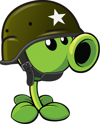 Soldier Pea.png - Plants Vs Zombies PNG