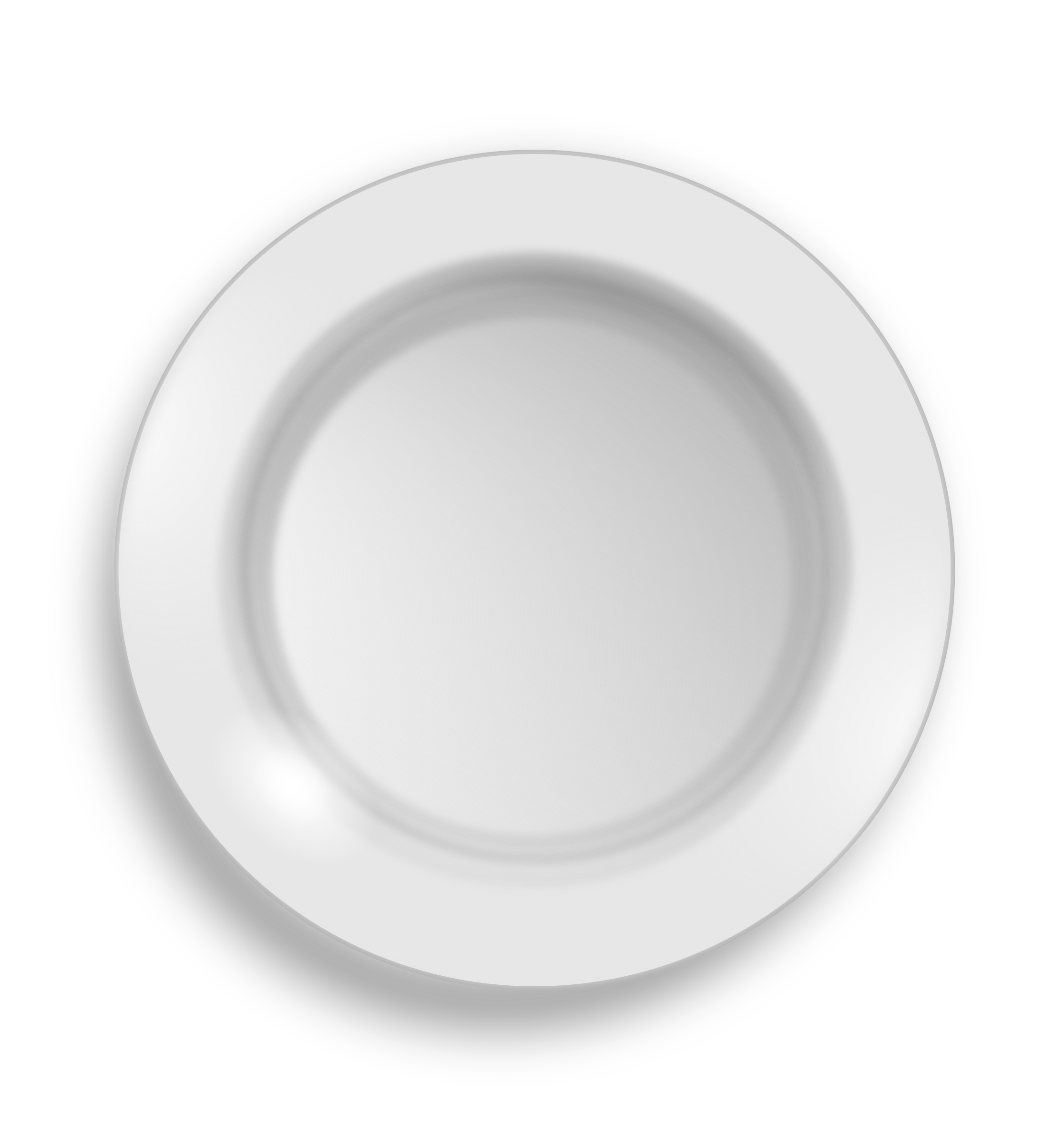 Clipart - white plate - Plate HD PNG