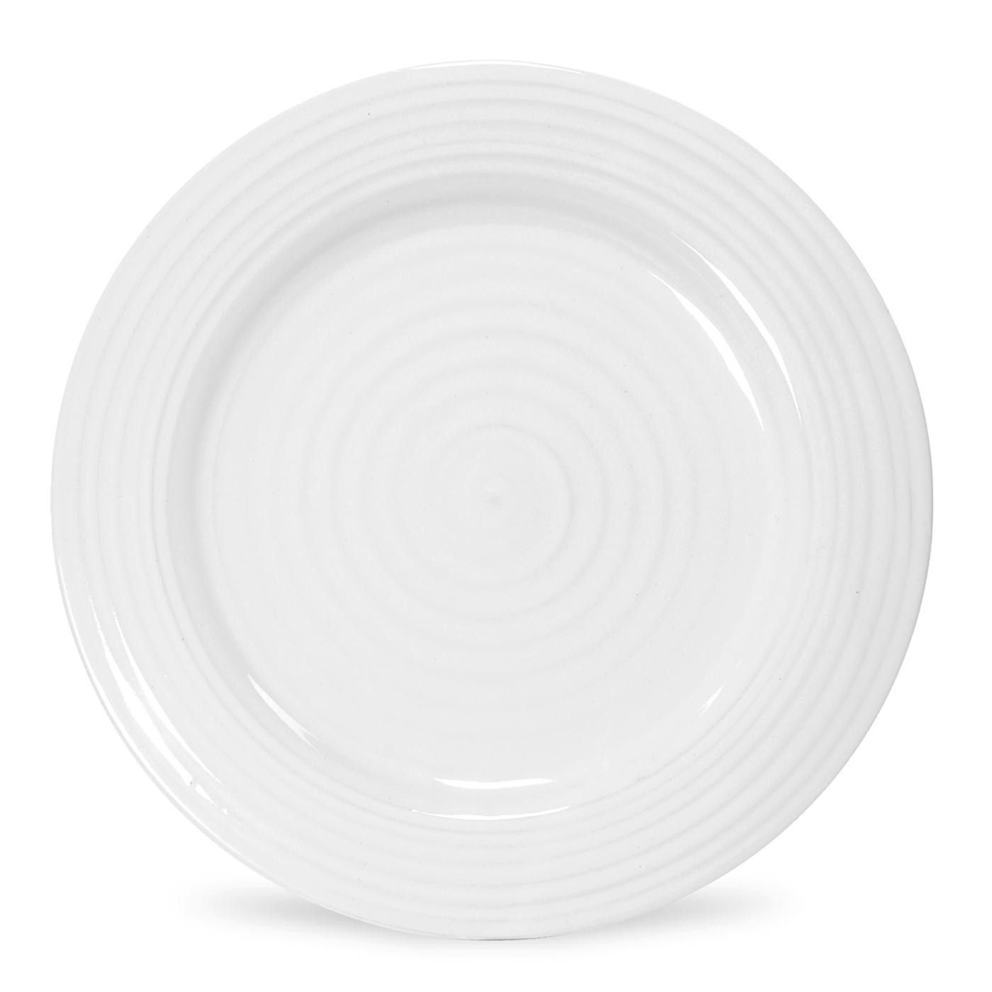 Sophie Conran for Portmeirion White Plate 8 inches Set of 4 - Portmeirion UK - Plate HD PNG