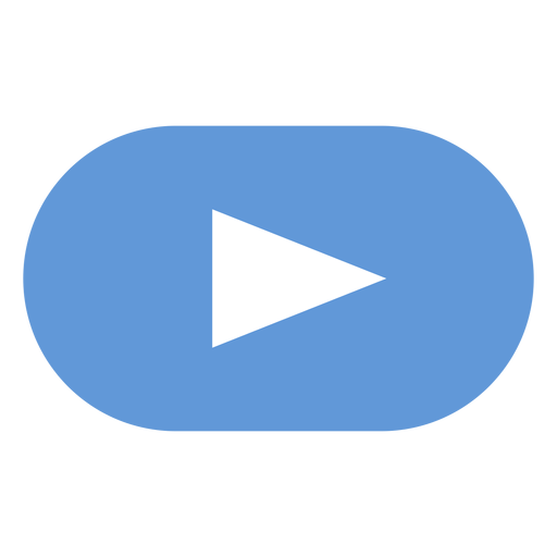 Play button flat icon png - Play Button PNG
