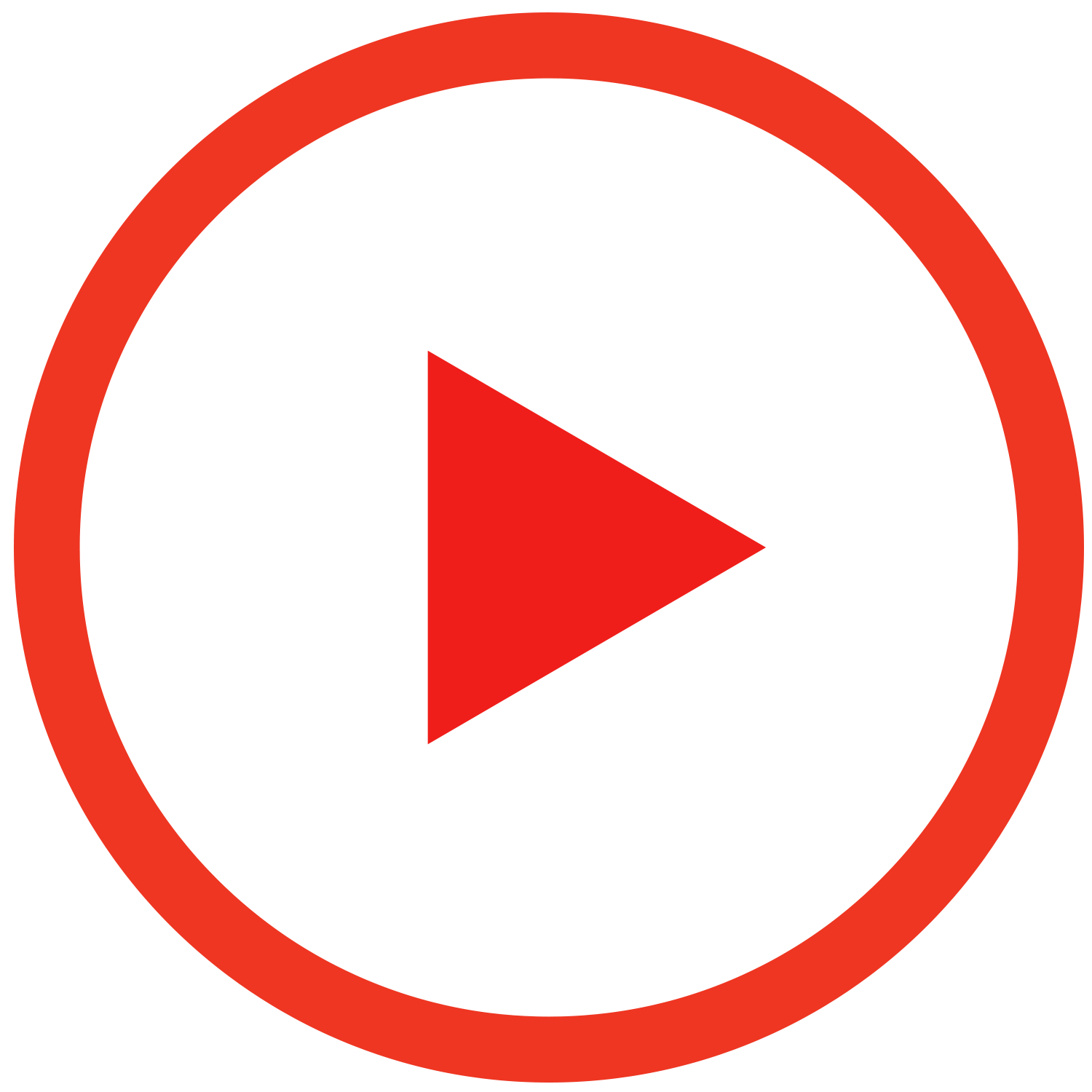Play Red Outline Button - Play Button PNG