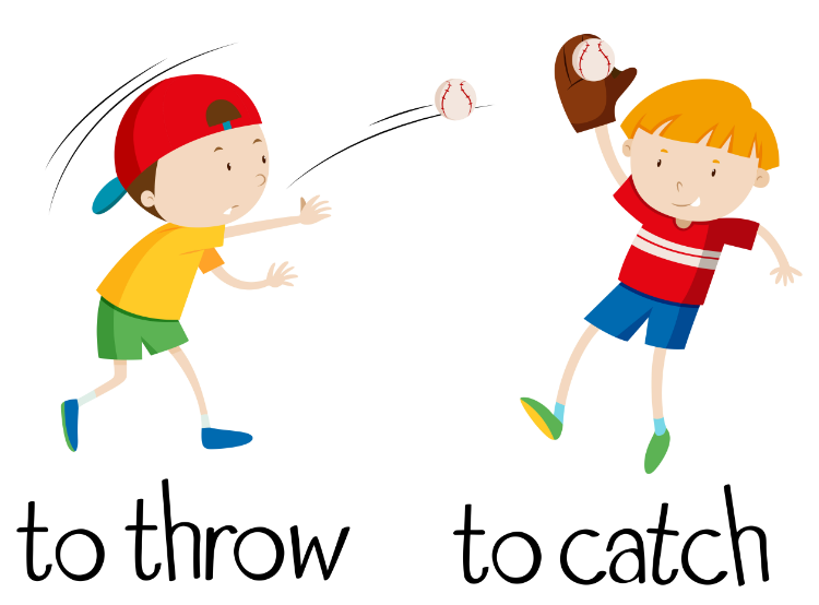 25 Collocations with Catch. Catch a ball, good catch, Catch off guard, Catch  a cold u2026 - Playing Catch PNG