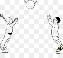 Ball game Play Catch Clip art - children playing - Playing Catch PNG
