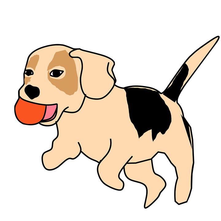 dog animal playing catch vector clipart sticker - Playing Catch PNG