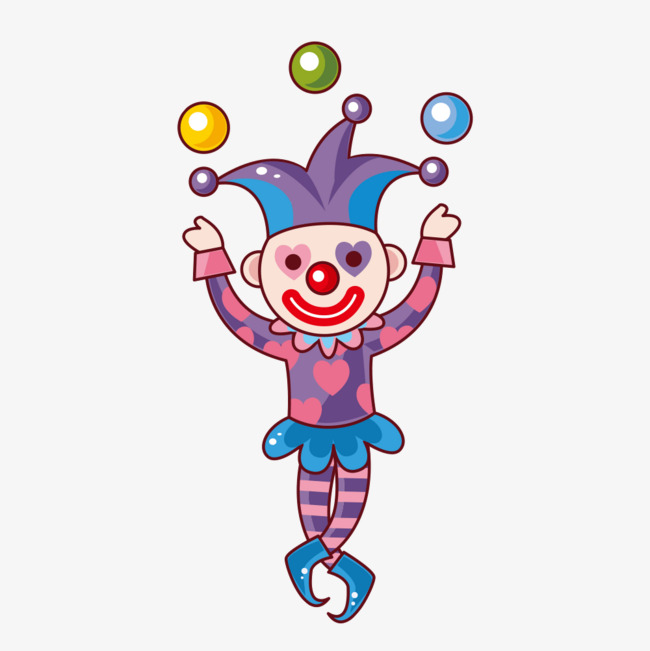 Play acrobatic clown, Throw The Ball, Catch, Clown PNG and PSD - Playing Catch PNG