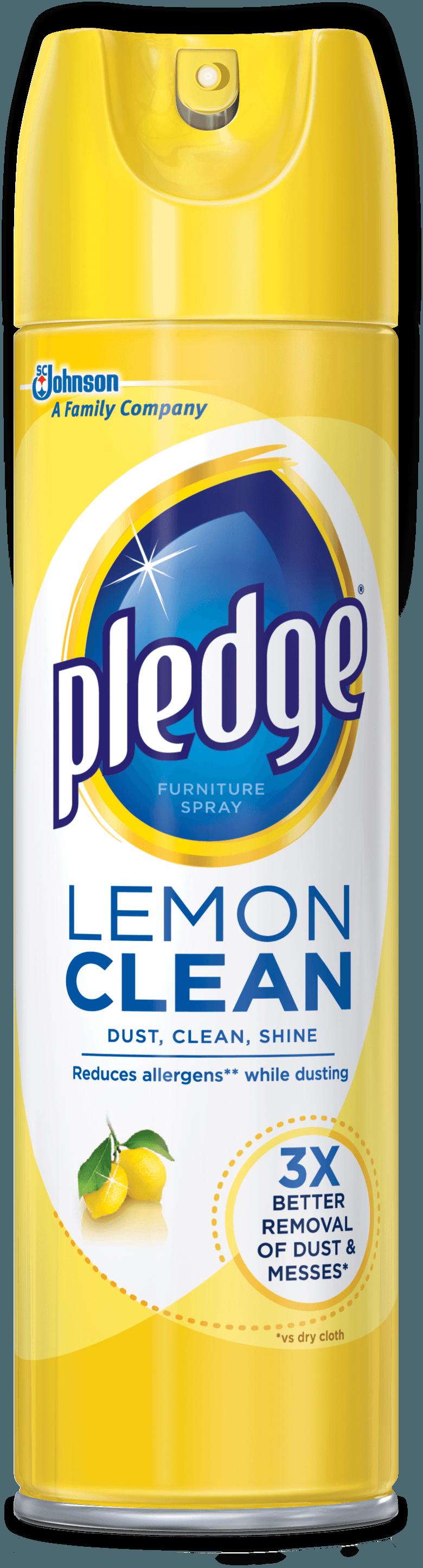 Lemon Clean Furniture Spray - Pledge PNG