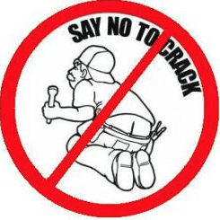 Plumber say no to crack - Plumber Crack PNG
