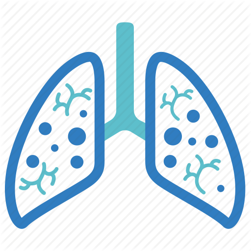 cancer, emphysema, lungs, pneumonia, pulmonology, smoked, tuberculosis icon - Pneumonia PNG