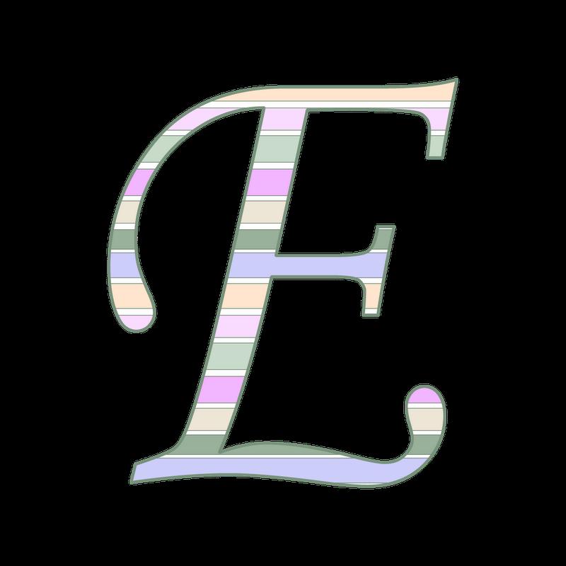 PNG Alphabet Letter E On Burlap - 165257
