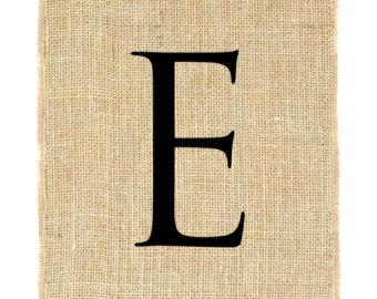 PNG Alphabet Letter E On Burlap - 165253