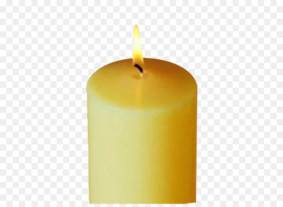 Candle Wax Yellow Cylinder - Church Candles Free Png Image - PNG Candles Free