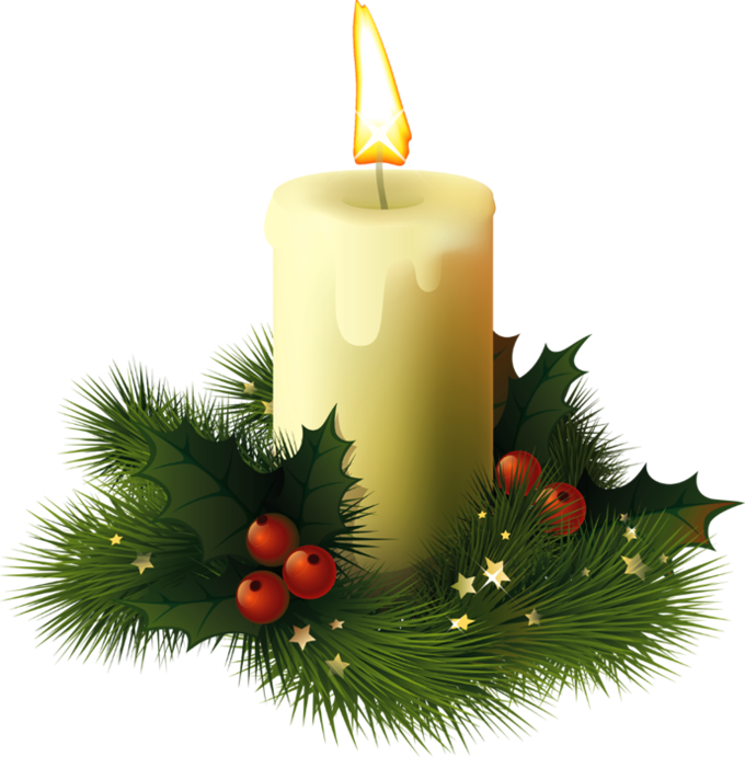 Christmas candle PNG image - PNG Candles Free