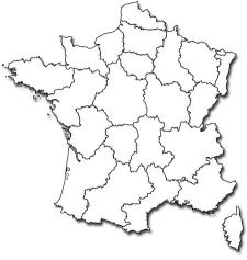 Carte De France Blanche - PNG Carte De France