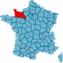 Carte Localisation Région France Basse-Normandie.png - PNG Carte De France