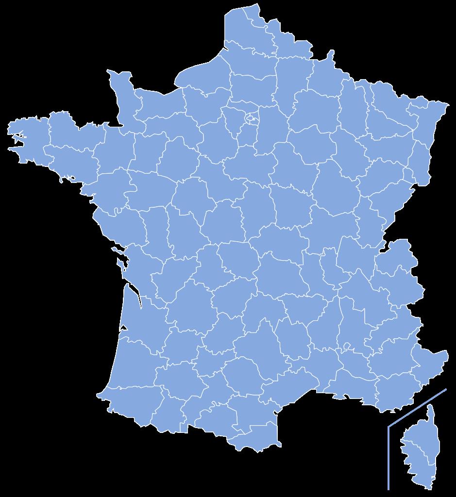 File:Départements de France-simple.svg - PNG Carte De France