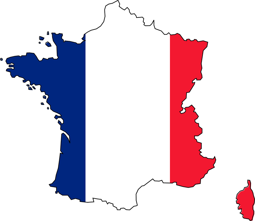 flag france map country geogr