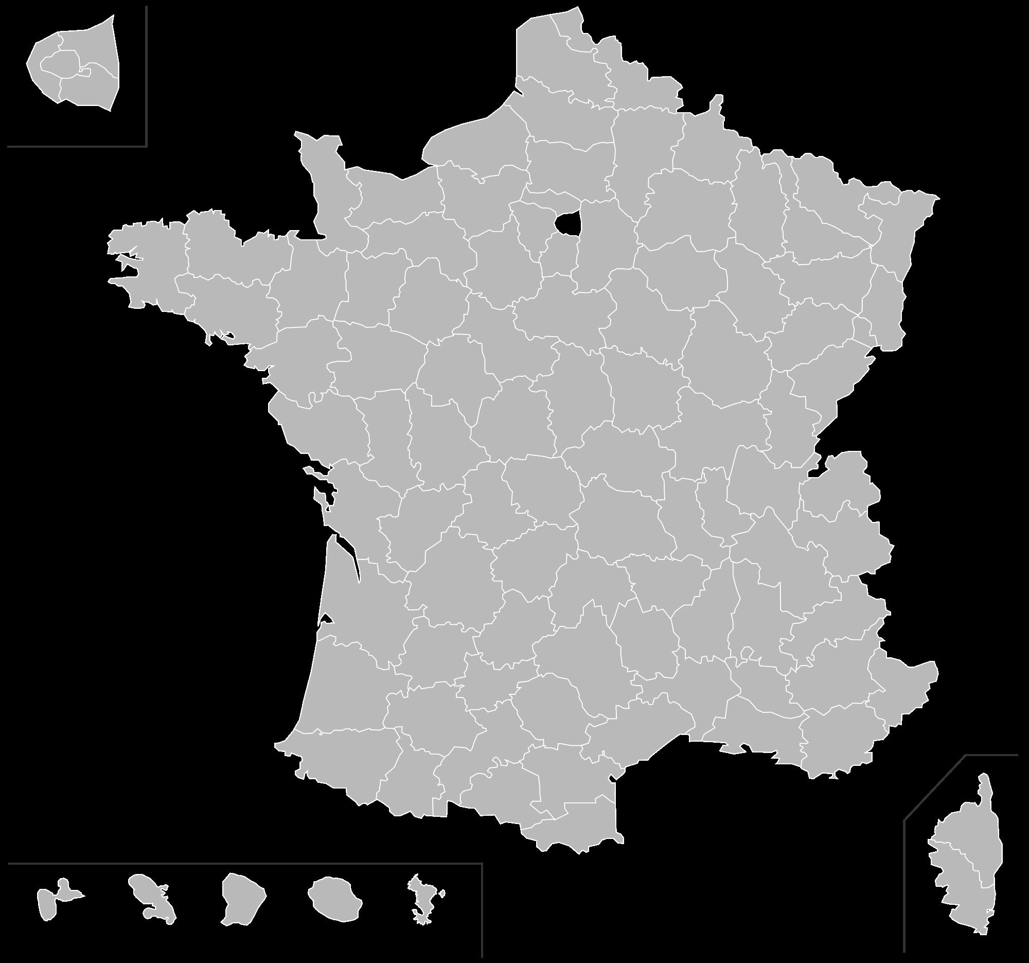 Map of France vector illustra