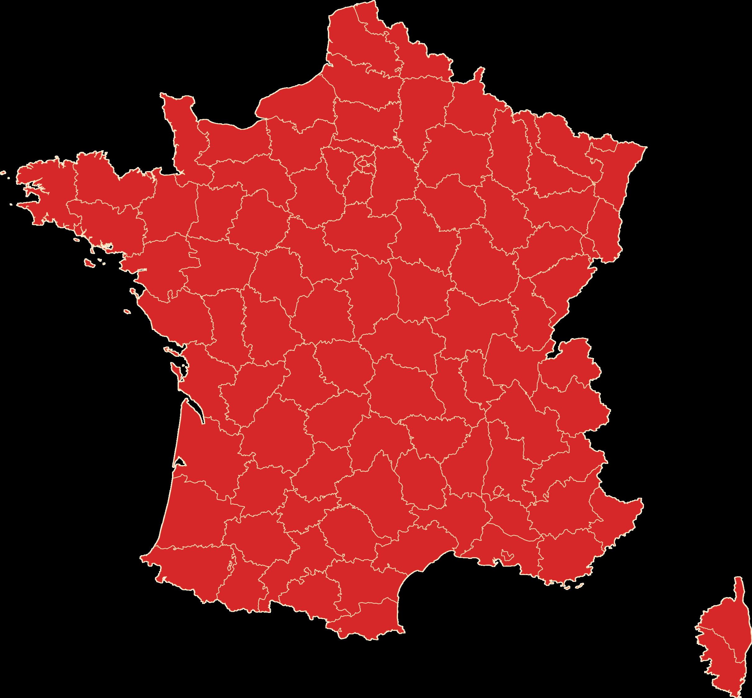 The solution - PNG Carte De France