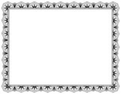 Black Certificate Border - PNG Certificate Borders Free