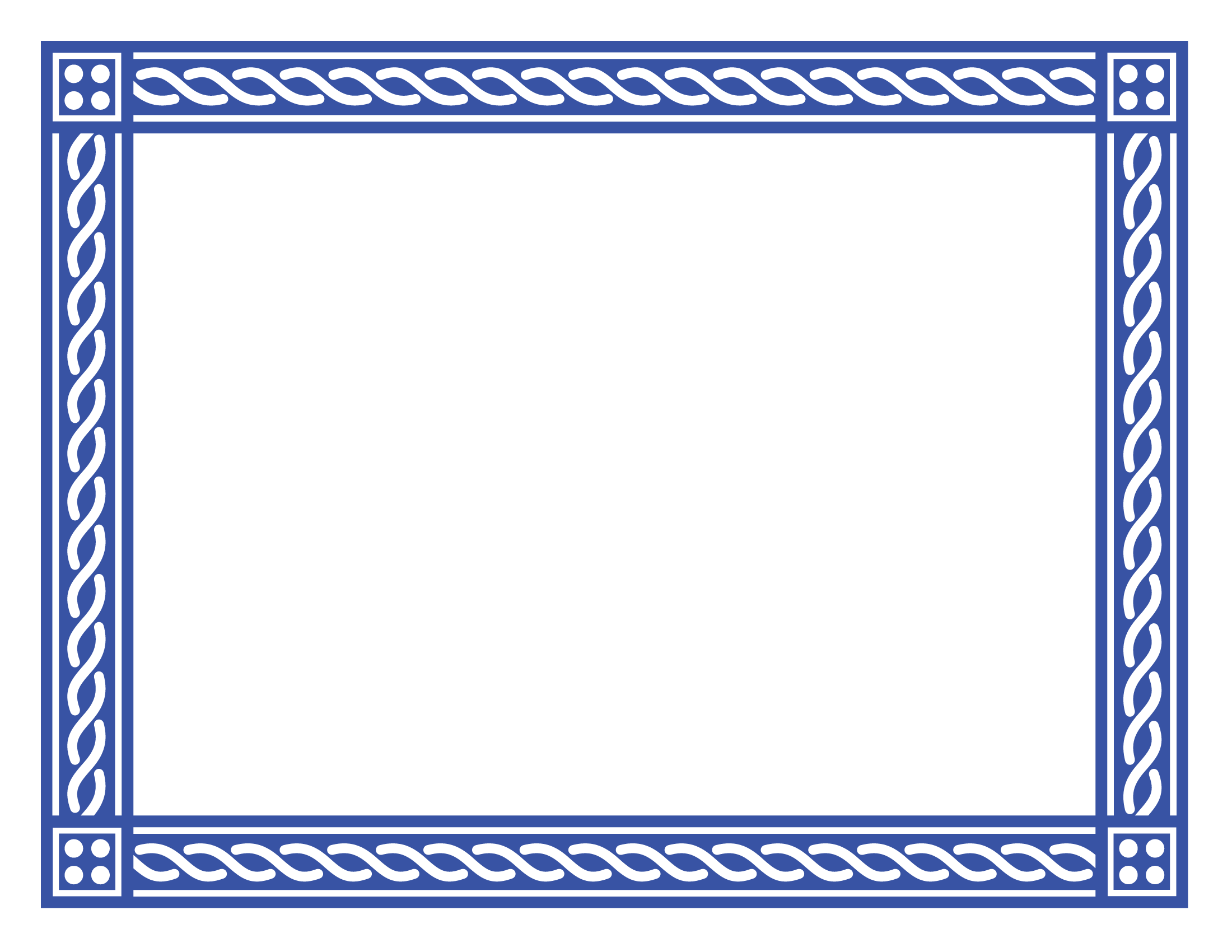 Certificate-Border-2-Blue-PNG.png (2200×1700) - PNG Certificate Borders Free