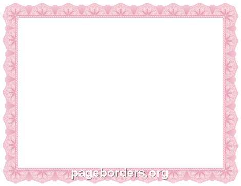 Pink Certificate Border - PNG Certificate Borders Free