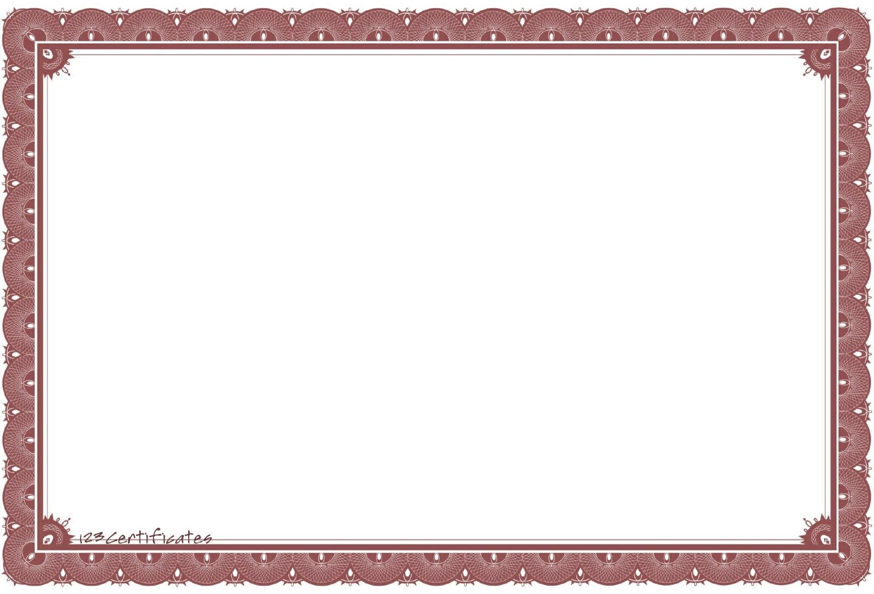 Sample Certificate Borders Copy Certificate Border Free Enderaltypark - PNG Certificate Borders Free