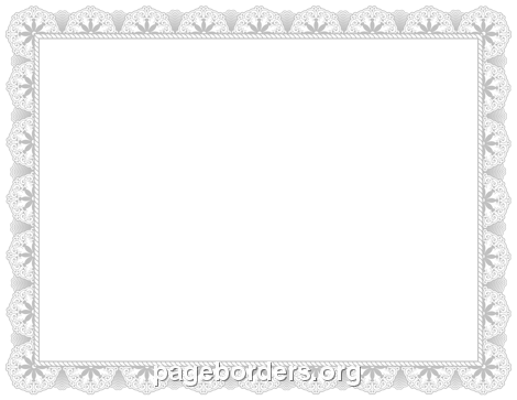 Silver Certificate Border - PNG Certificate Borders Free