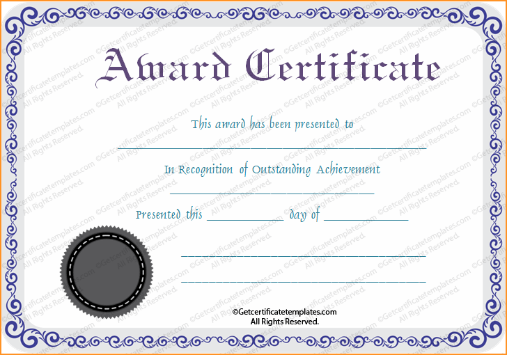 Award Certificate Templates.Silver Award Certificate Template.png - PNG Certificates Award