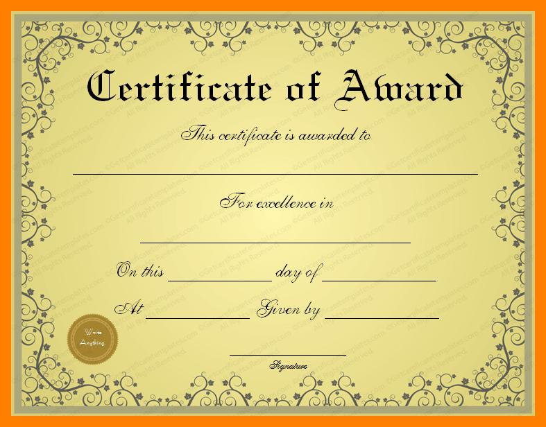 PNG Certificates Award - 154420