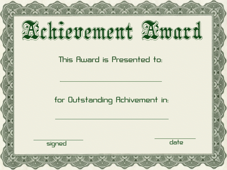 PNG Certificates Award - 154429