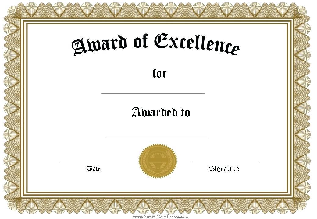 PNG Certificates Award - 154415