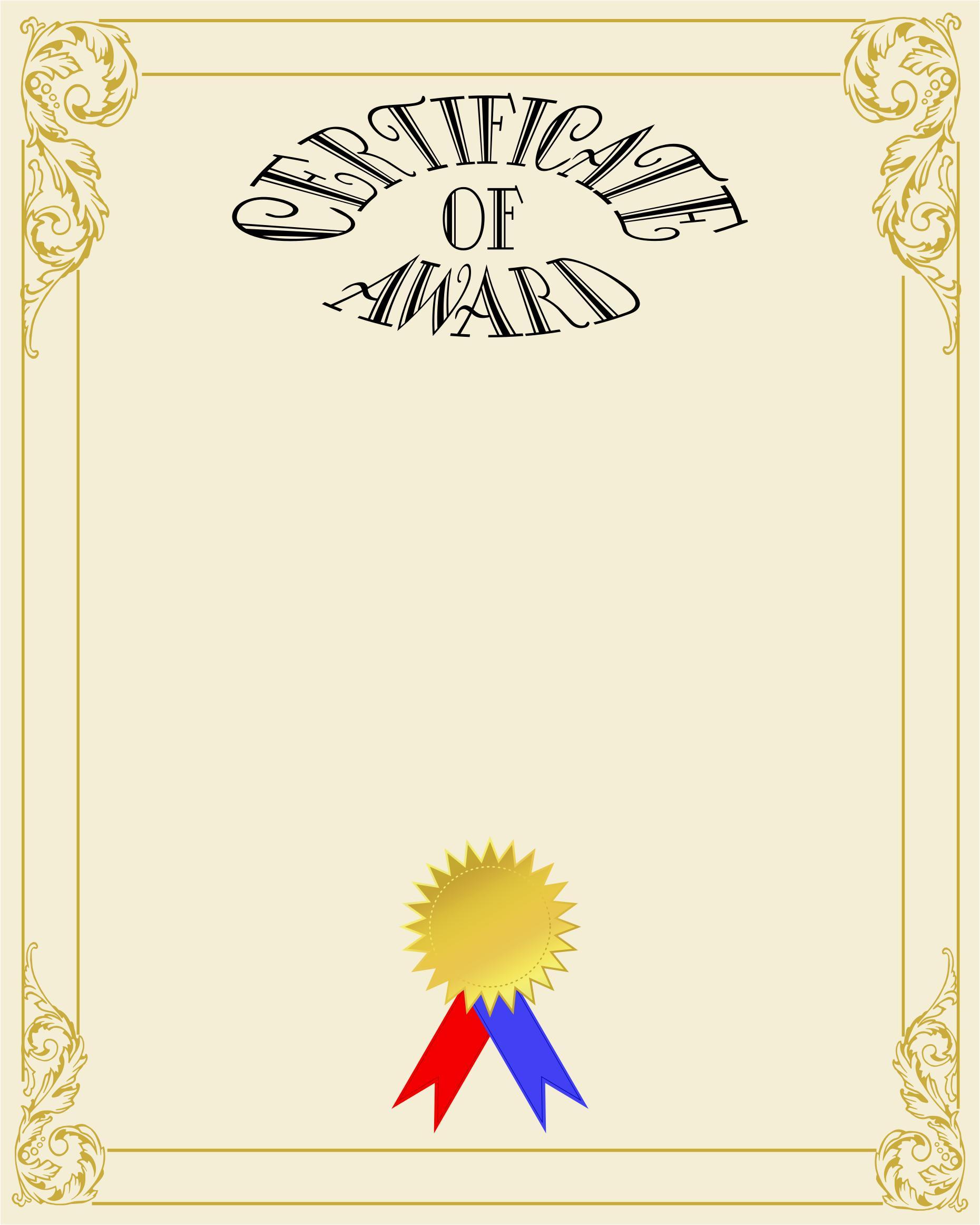 Certificate Of Award - PNG Certificates Award