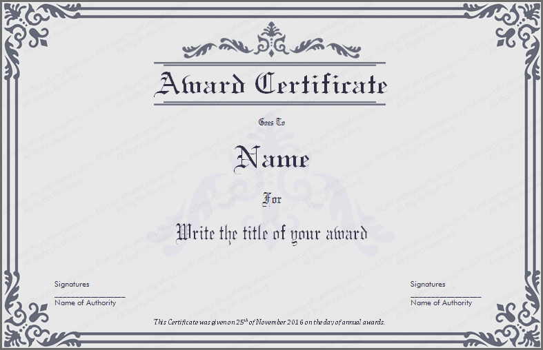 certificate-templates-dignified-award-certificate-template-preview  CERTIFICATE TEMPLATES - PNG Certificates Award