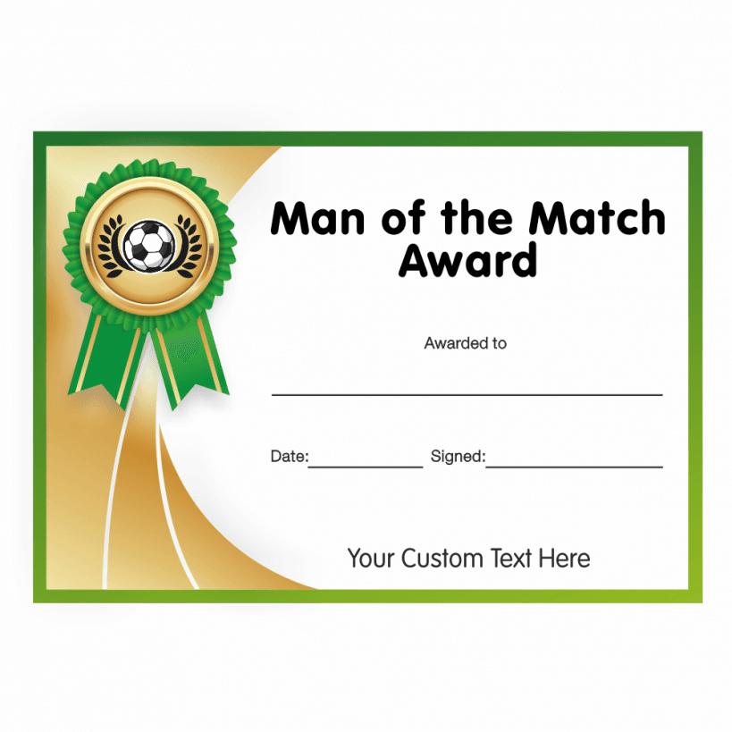 Football Award Certificates - Mixed Pack - PNG Certificates Award
