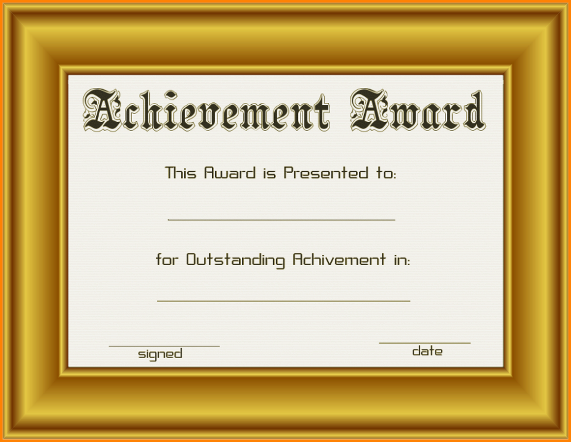 frame - /page_frames/school/achievement_award_in_gold_frame.png.html - PNG Certificates Award