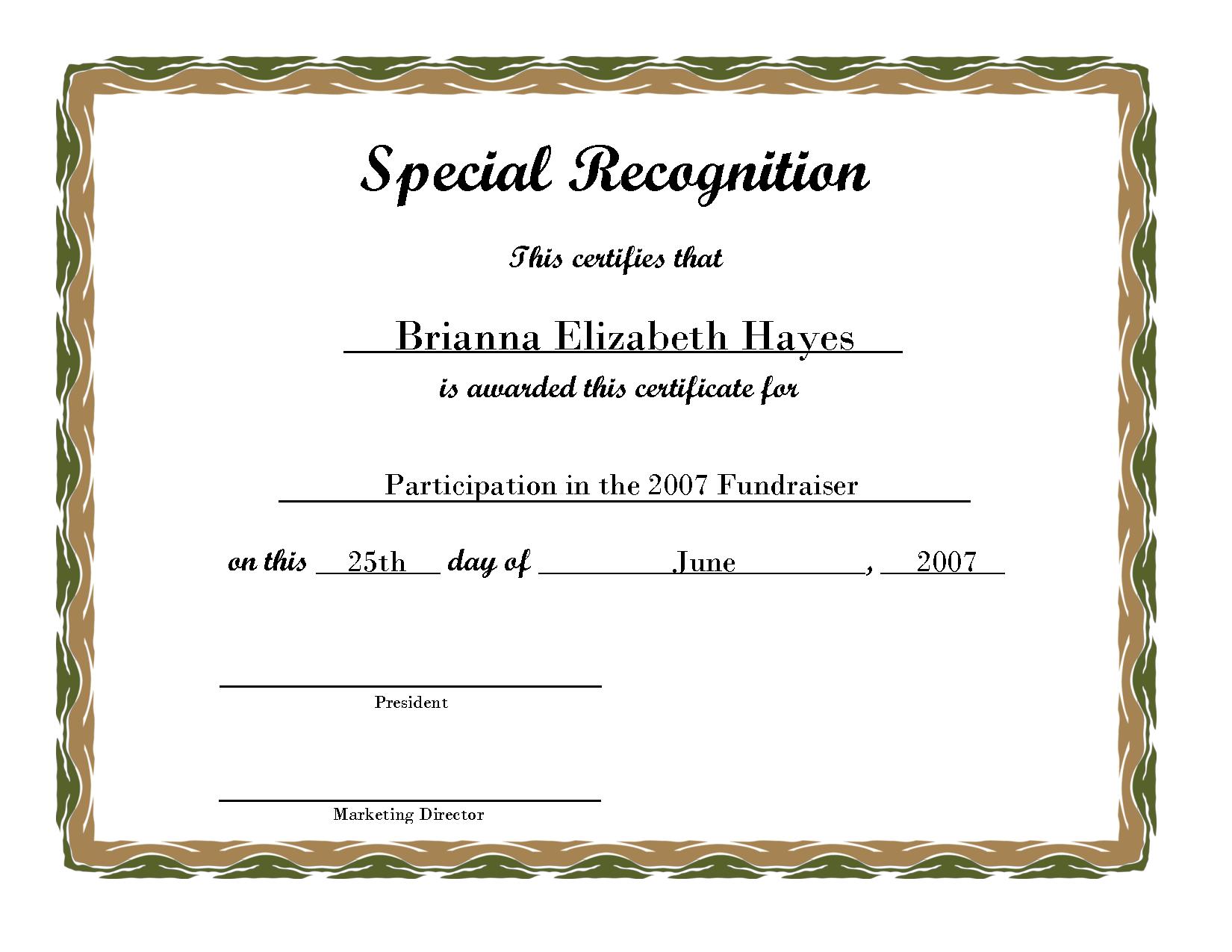 Free Printable Award Certificate Borders | Free Printable Certificate 2b - PNG Certificates Award