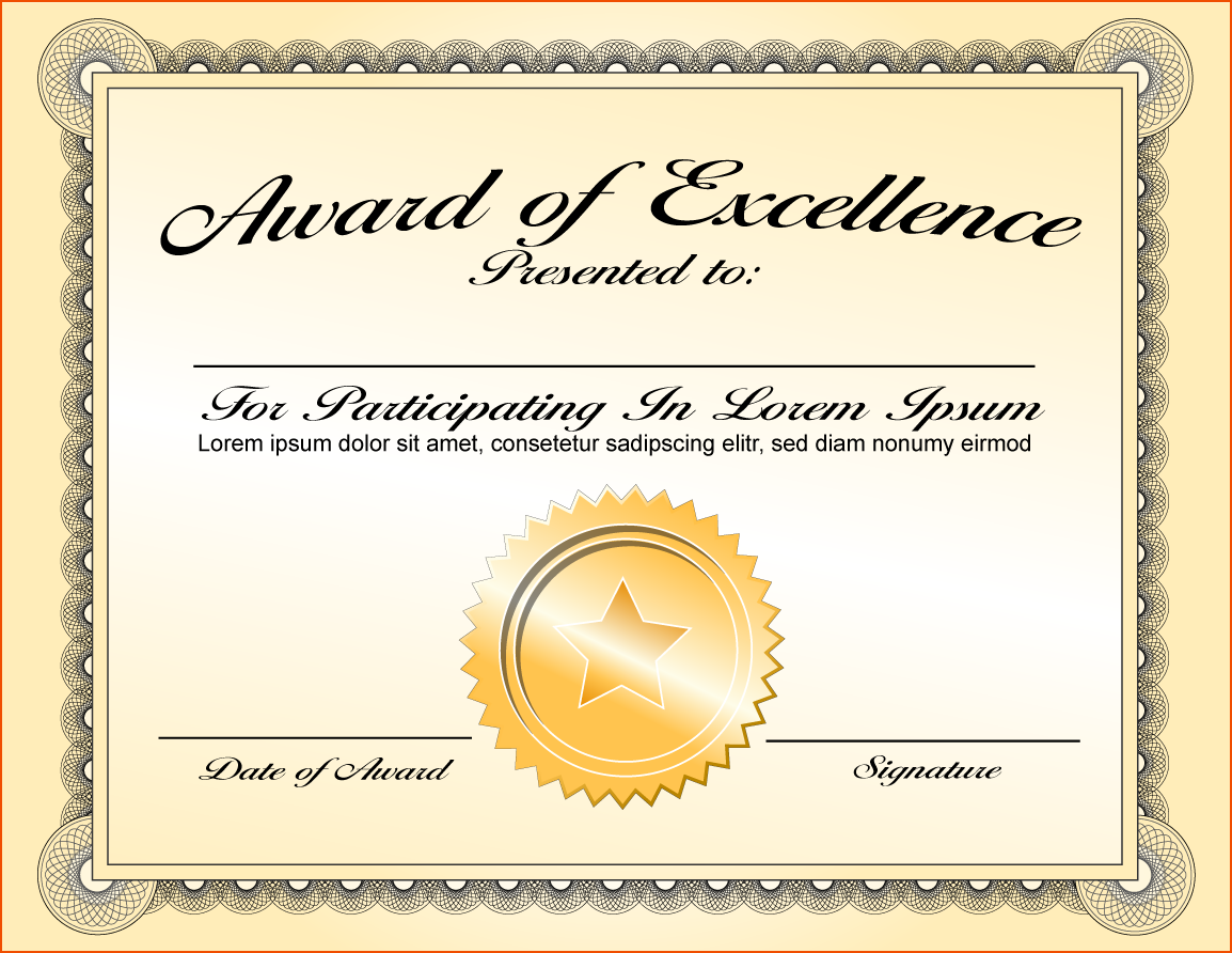 Repin Image Certificate Award Template On Pinterest Png Certificates
