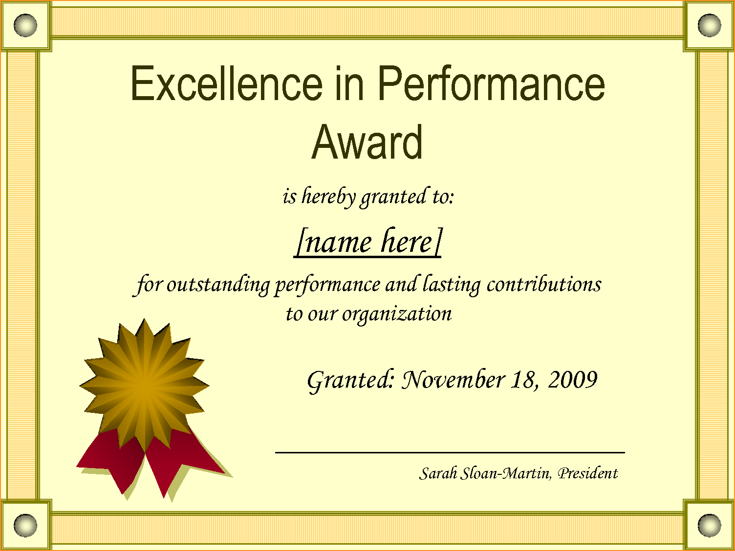 PNG Certificates Award - 154422